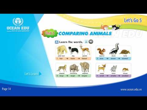 [Ocean Edu] Unit 2 - Comparing Animals | Student book - Let's Go 5