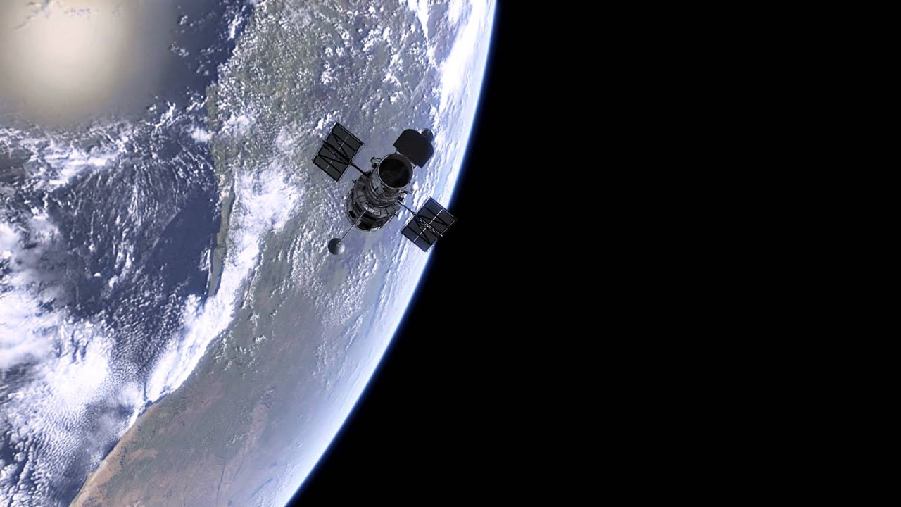 Hubble orbiting Earth - YouTube