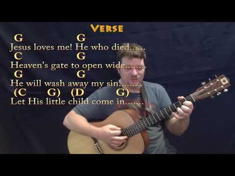 Jesus Loves Me (Hymn) Strum Guitar Cover Lesson in G with Chords/Lyrics