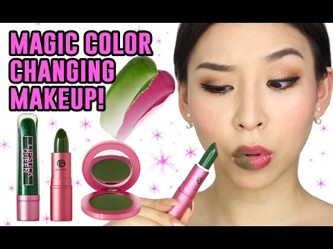 Magic Makeup That Changes Color!  || TINA TRIES IT