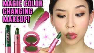 Magic Makeup That Changes Color!  || TINA TRIES IT
