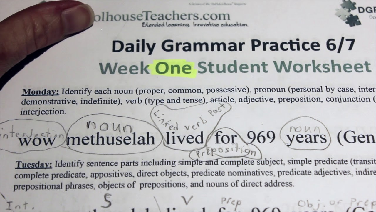 small resolution of 7th grade Grammar for homeschool (the easy way...schoolhouseteachers.com) -  YouTube