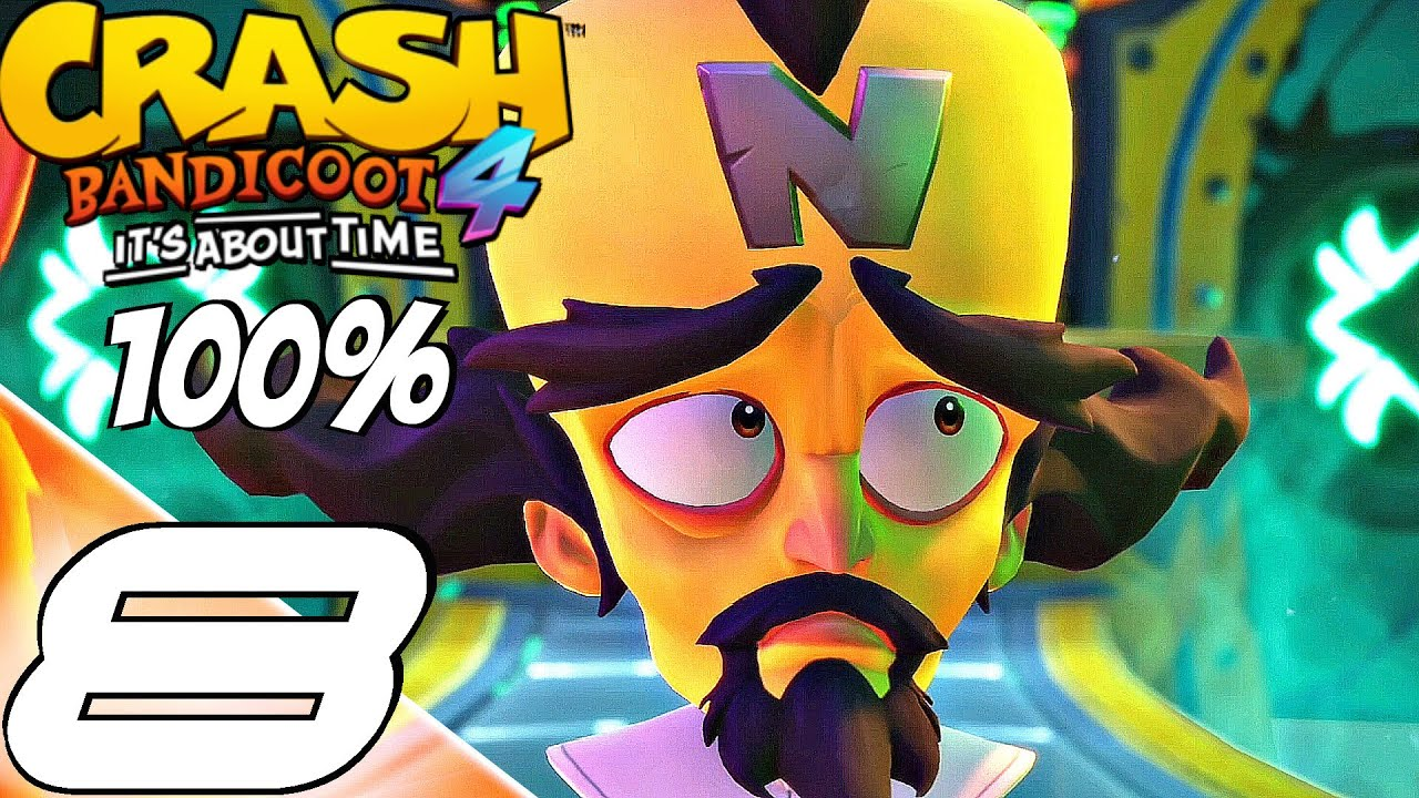 Download Crash Bandicoot 4: It's About Time - Gameplay Walkthrough Part 8 (100%) All Gems, Boxes, Relics