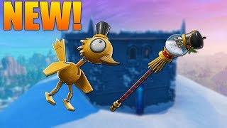 CRACKSHOT IS BACK! NEW SNOW GLOBE PICKAXE & BIRDSHOT GAMEPLAY!! FORTNITE BATTLE ROYALE!!!