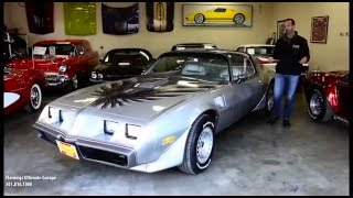 79 PONTIAC TA 10TH ANNIVERSARY for sale with test drive, driving sounds, and walk through video