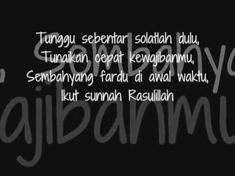 Iwan Syahman  Solat Dulu Lyrics)