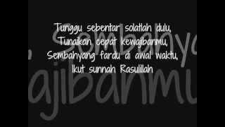 Video Iwan Syahman  Solat Dulu Lyrics) download MP3, 3GP, MP4, WEBM, AVI, FLV Agustus 2018