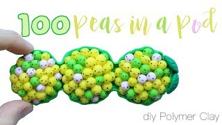 figcaption How to DIY 100 Peas in a Pod Figure [100 Challenge!] Polymer Clay Tutorial