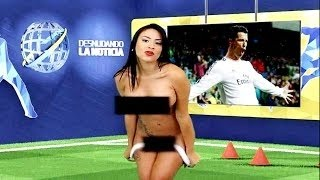 Sexy TV Host Yuvi Pallares STRIPS NAKED For Cristiano Ronaldo On LIVE TV