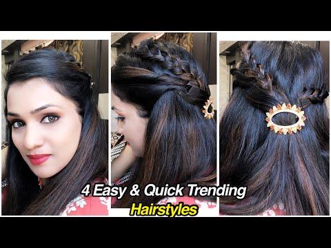4-आसान-हेर्स्टायल- -4-easy-&-quick-hairstyles- -trendy-hairstyles- -easy-wedding-hairstyle