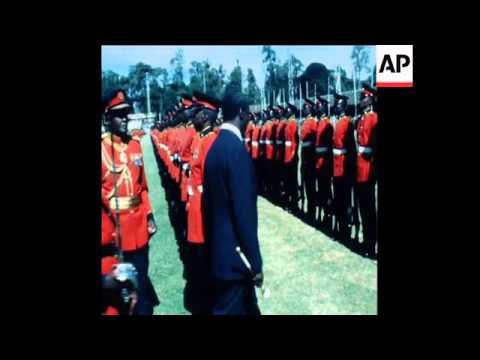 SYND 14 12 79 DANIEL ARAP MOI SWORN IN TO SECOND PRESIDENCY OF KENYA