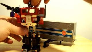 G1 VINTAGE TRANSFORMERS OPTIMUS PRIME ACTION FIGURE TOY REVIEW