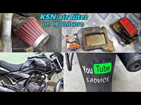 How To Install K&n Air Filter In Honda Unicorn /Best Air Filter For Honda Unicorn IN HINDI S ADVICE