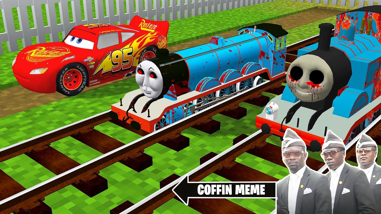 Download The Smallest THOMAS THE TANK ENGINE.EXE and FRIENDS and LIGHTNING MCQUEEN in Minecraft - Coffin Meme
