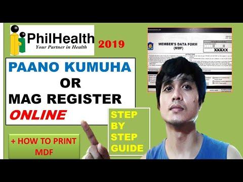 PHILHEALTH ONLINE REGISTRATION AT PAANO MAG PRINT NG MDR
