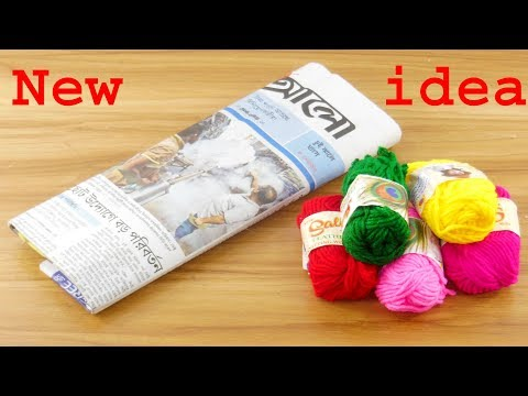 Newspaper & old bangles reuse idea | DIY Wall Hangin | old bangles &  Newspaper Craft Idea