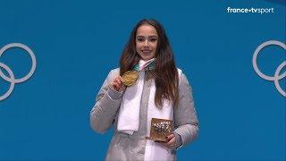 JO 2018 : Patinage artistique Femmes. La remise des médailles olympiques