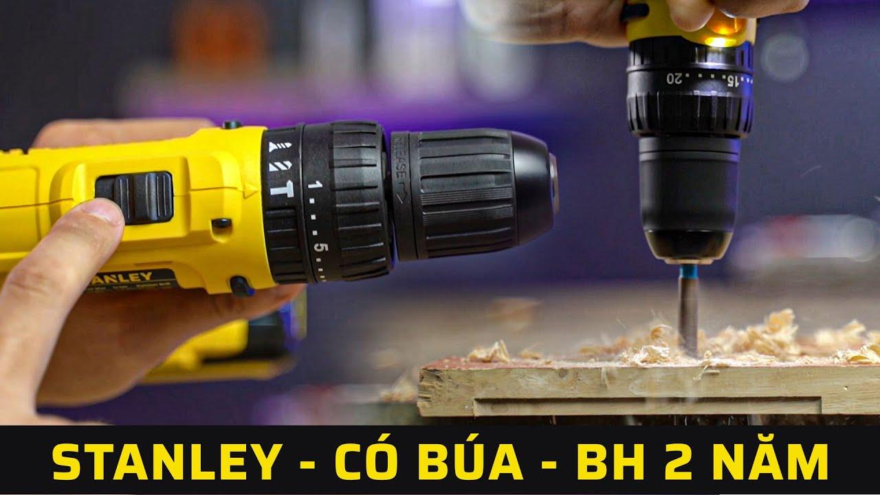 Khoan Pin Rất Tốt Cho Gia Đình Giá Dưới 2Tr | Stanley SCH121S2 - Pin 12V, Có Búa, BH 2 năm
