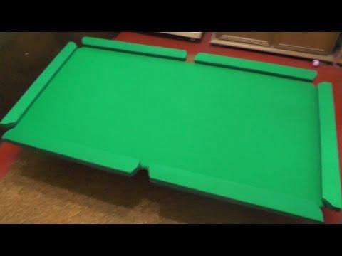 Как сделать бильярдный стол своими руками видео