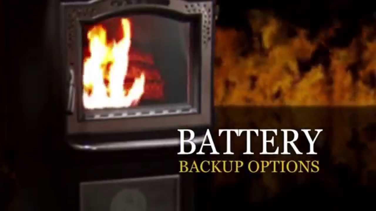 Harman 174 P Series Pellet Stove Battery Backup Options Video