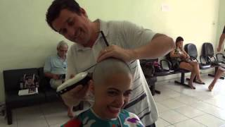 Repeat youtube video Video shaving women Headshave from long to bald HD
