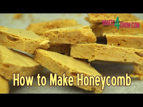 How to Make Honeycomb - Honeycomb Candy Recipe, Simple and Quick, and Super Delicious!