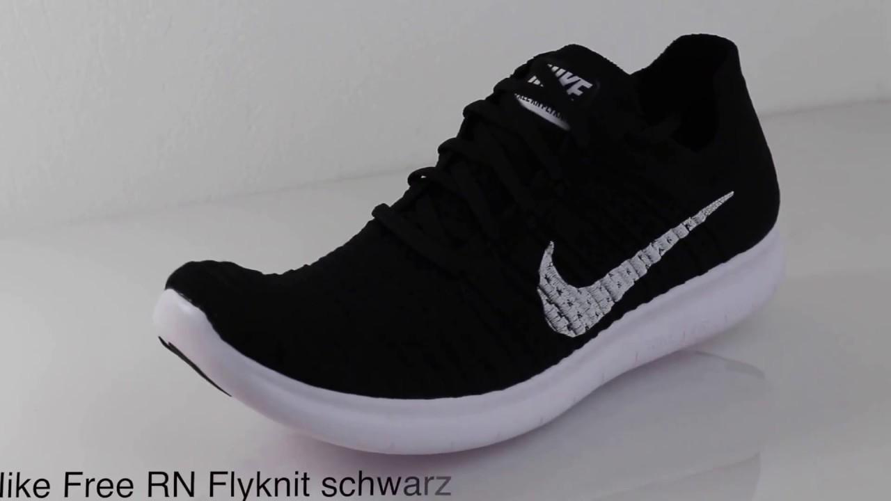 good selling wide varieties online store Nike Free RN Flyknit black schwarz 360 view 831069-001