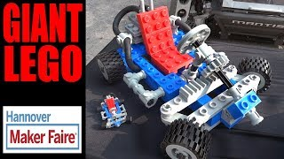GIANT 3D Printed LEGO at Maker Faire Hannover 2017 | XRobots