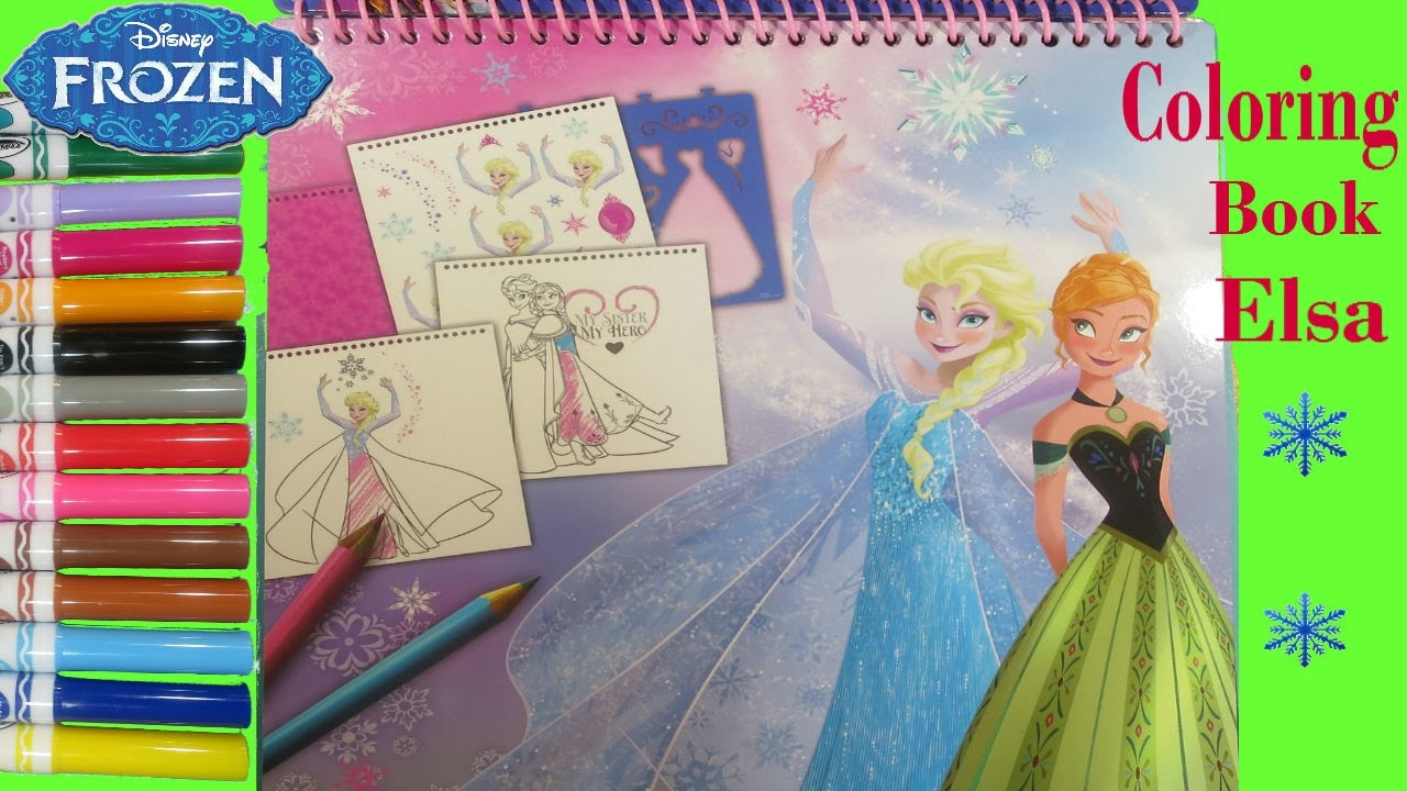 Disney Frozen Coloring Book Elsa. How to draw Elsa | Coloring page ...