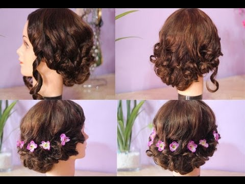 15 Quick and Easy Messy Elegant Updo for Homecoming -Prom - YouTube