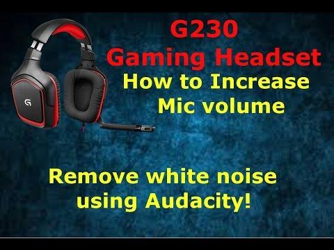 Logitech G230 Gaming Headset - Improving Mic volumn and removing static  noise