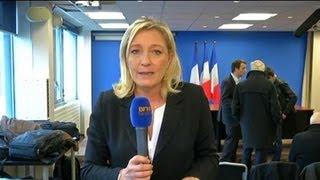 Pour Marine Le Pen l'accusation d'un lobby gay au FN est « scandaleuse »