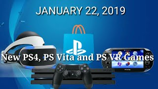 New Ps4, Ps Vr And Ps Vita Games For January 22