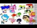 Cartoon Network Coloring Book Pages Teen Titans Go Powerpuff Girls Unikitty Gumball Darwin TTG