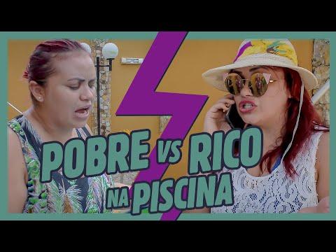 POBRE VS RICO NA PISCINA