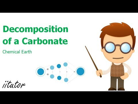 √√ Decomposition Of A Carbonate | Chemical Earth | Chemistry