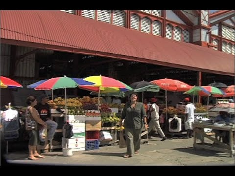 Shopping at Stabroek Market, Guyana