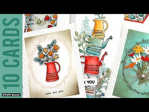 1 Stamp Set, 10 Cards!