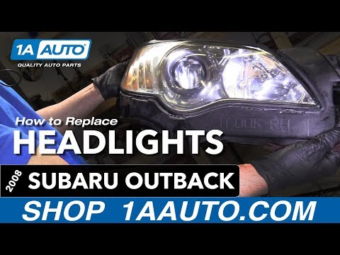 How to Replace Headlights 04-09 Subaru Outback