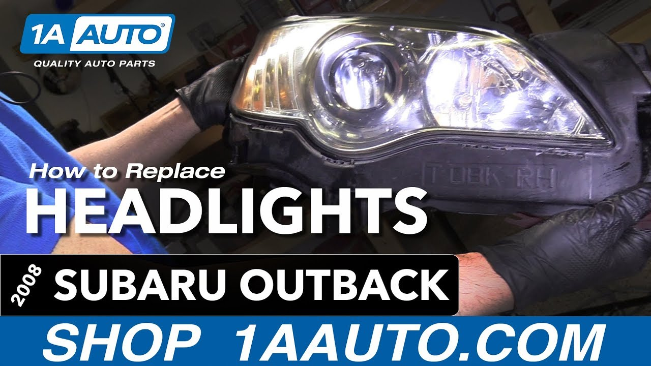 how to replace headlights 04 09 subaru outback youtube 2013 subaru legacy headlight parts diagram engine car parts and [ 1280 x 720 Pixel ]