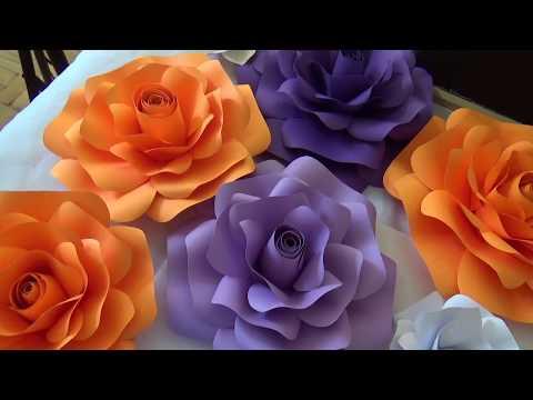 Large Paper Rose Tutorial