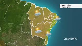 Previsão Nordeste – Chuva passageira na costa leste