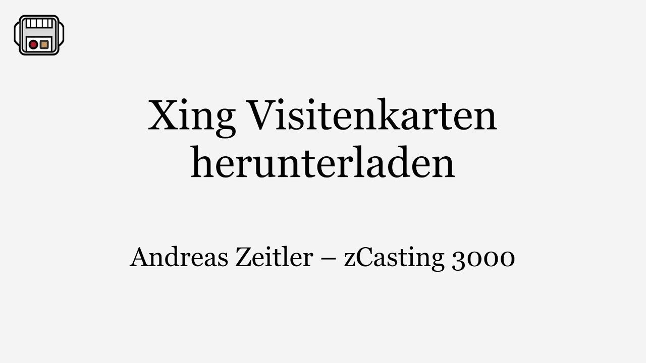 Xing Tutorial Visitenkarten Herunterladen Ohne Premium