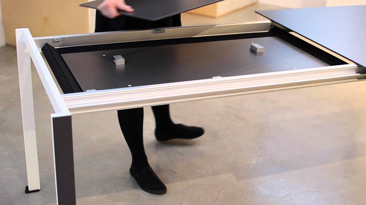 Kristalia thin k aluminium table youtube for Table kristalia