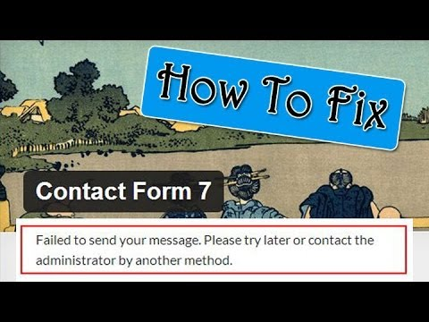 Fix Failed to send your message - Contact Form 7 Error - YouTube