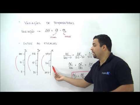 X da Questão Física Termologia Variações de Temperatura