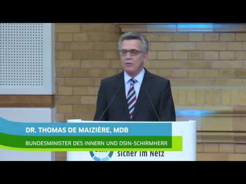 DsiN Kongress 2016: Grundsatzrede von Bundesinnenminister Dr. Thomas de Maizière