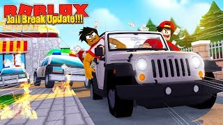 ROBLOX - JAIL BREAK UPDATE - ROBBING THE BANK WITH NEW SUV!!