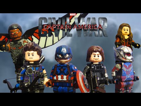 Captain America Civil War Custom Minifigures- Team Cap