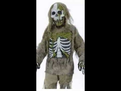 scary skeleton zombie kids monster halloween costume youtube